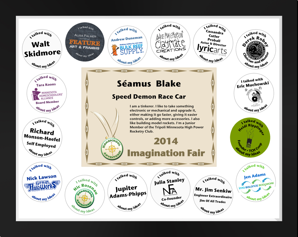 Imagination Fair 2014 Participation Certificate Example
