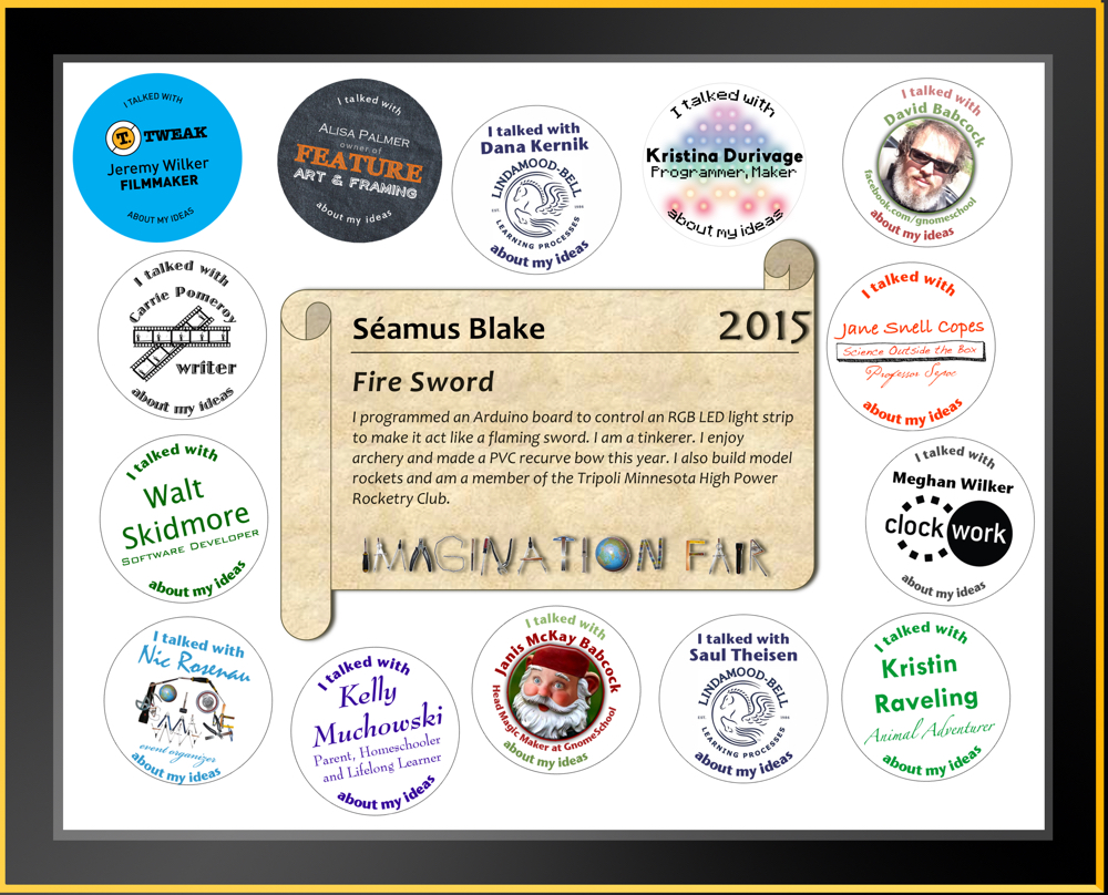 Imagination Fair 2015 Participation Certificate Example